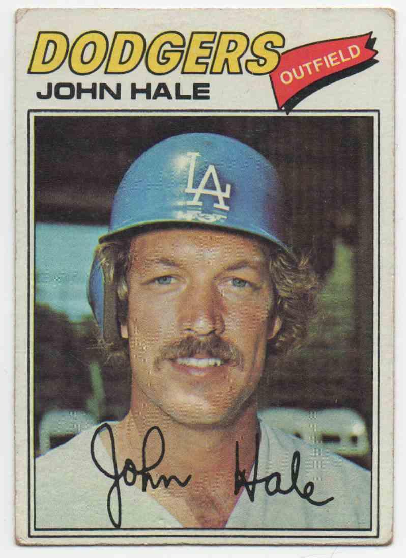 1977 Topps John Hale #253 card front image