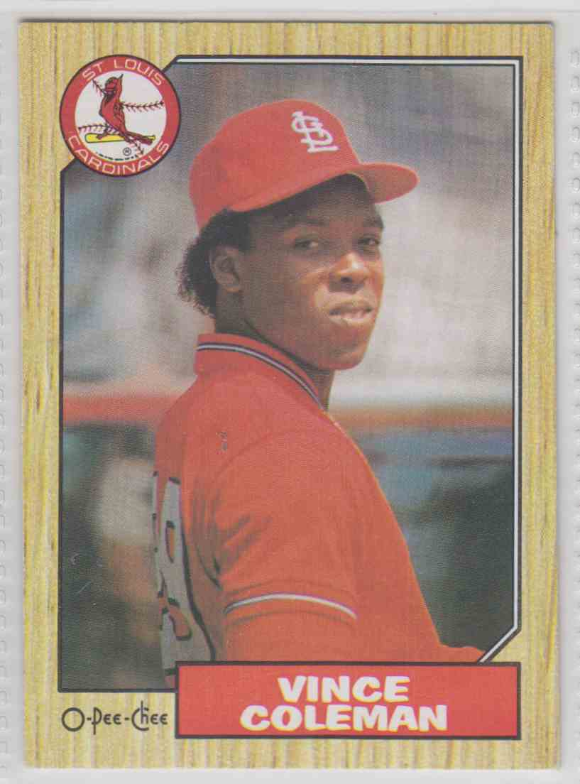 1987 O-Pee-Chee Vince Coleman #119 card front image