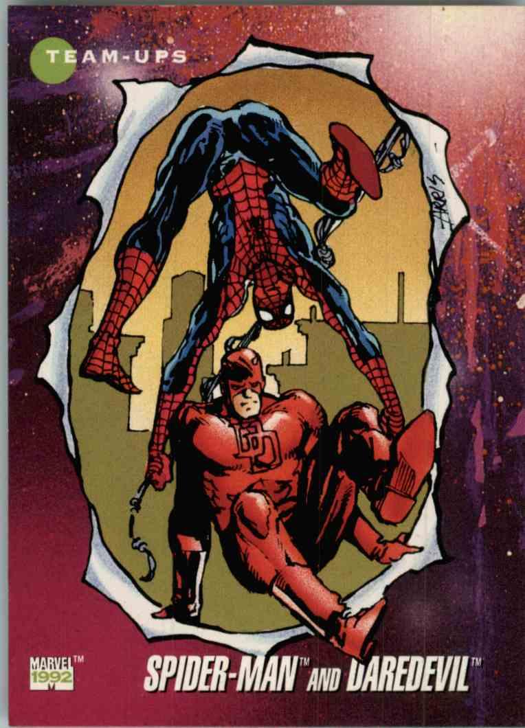1992 Marvel Spider-Man And Daredevil #97 card front image