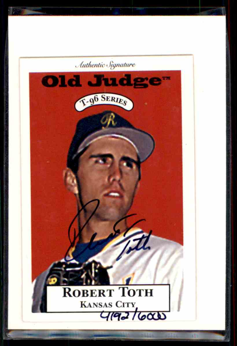 1995 Signature Rookies Old Judge Robert Toth card front image
