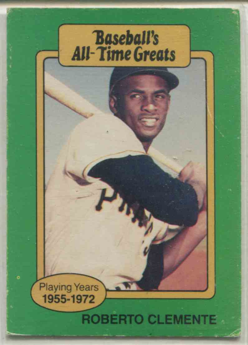 1987 Hygrade Baseball39s All Time Greats Roberto Clemente