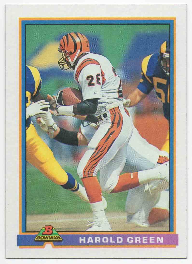 1991 Bowman Harold Green #75 card front image
