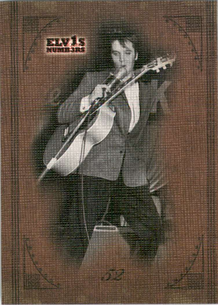 2008 Elvis By The Numbers Canvas 52 #23 card front image