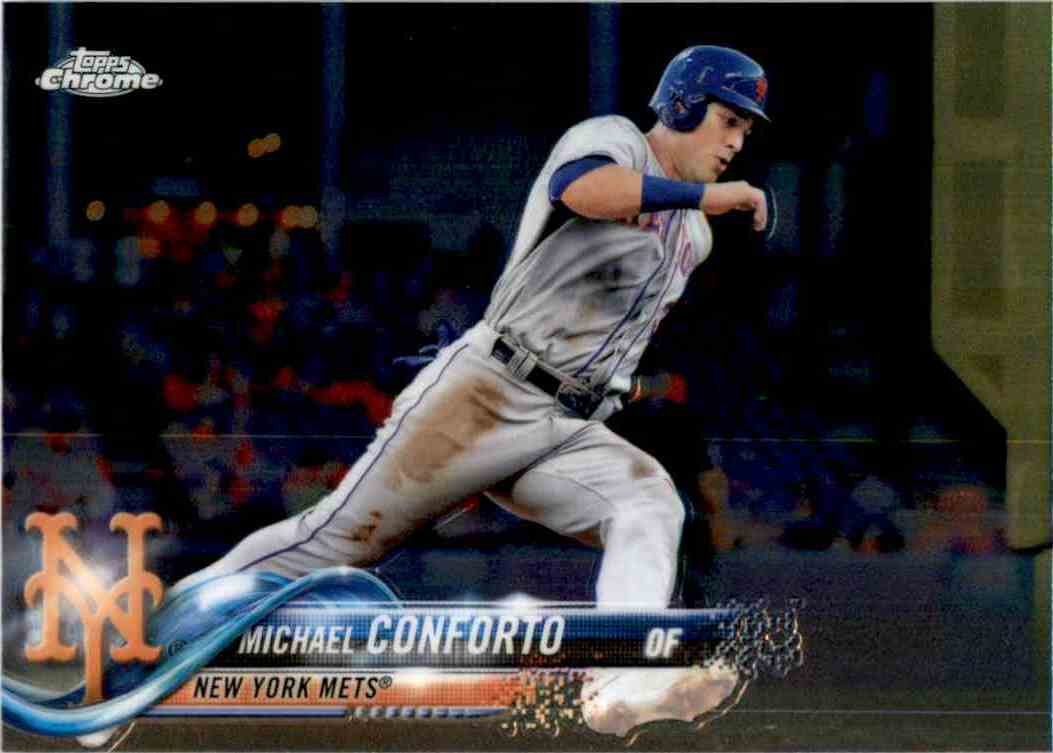2018 Topps Chrome Michael Conforto #136 card front image