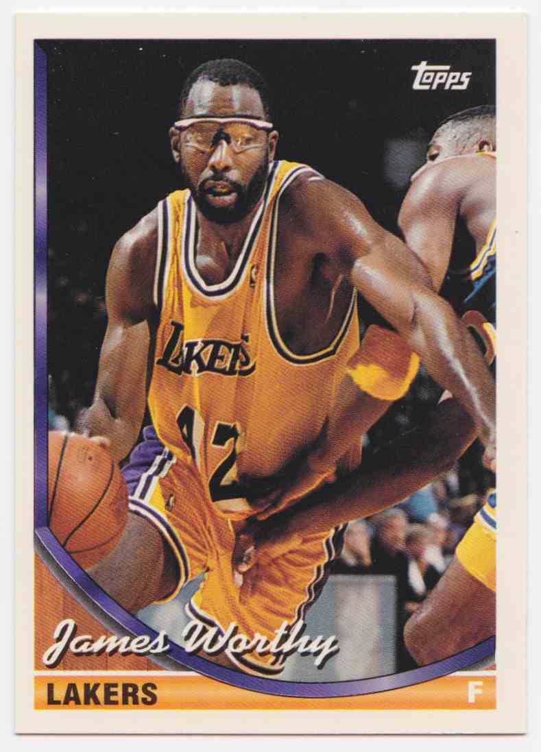 1993-94 Topps Base James Worthy #88 card front image