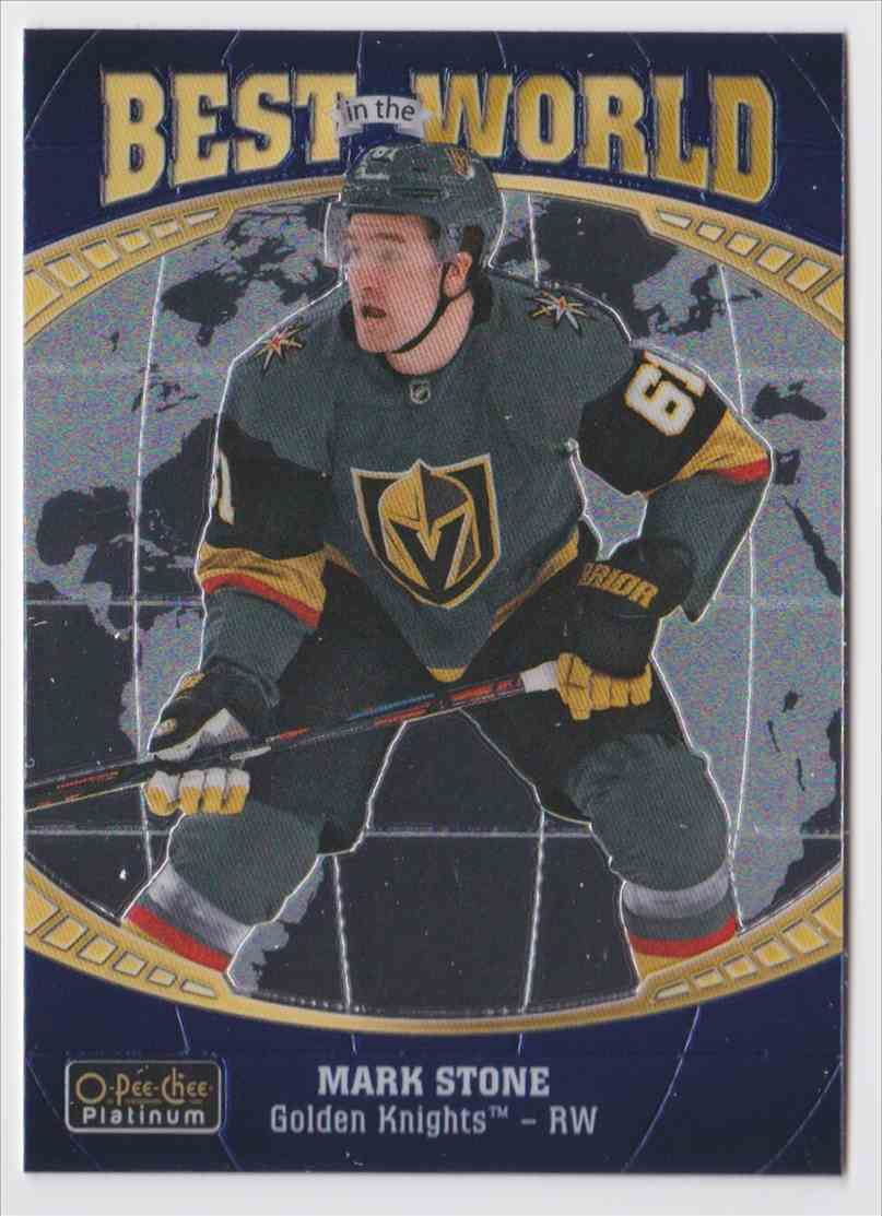2019-20 Upper Deck Hockey O-Pee-Chee Platinum Mark Stone - Best In The World #BW-11 card front image