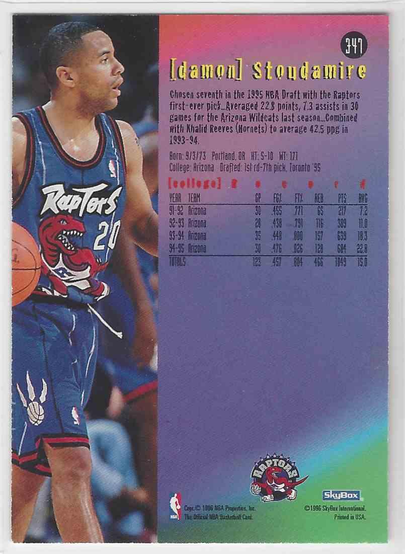 cc15e65995b Real card back image 1995-96 NBA Hoops Damon Stoudamire #347 card back image