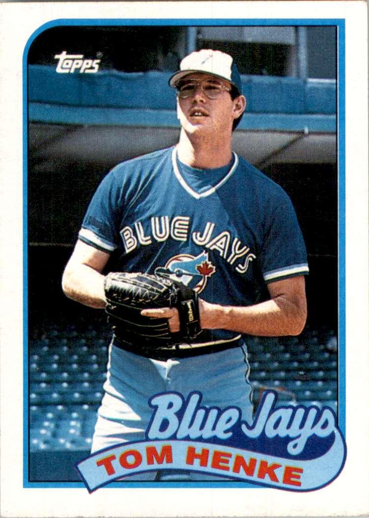 1989 Topps Tom Henke #75 card front image
