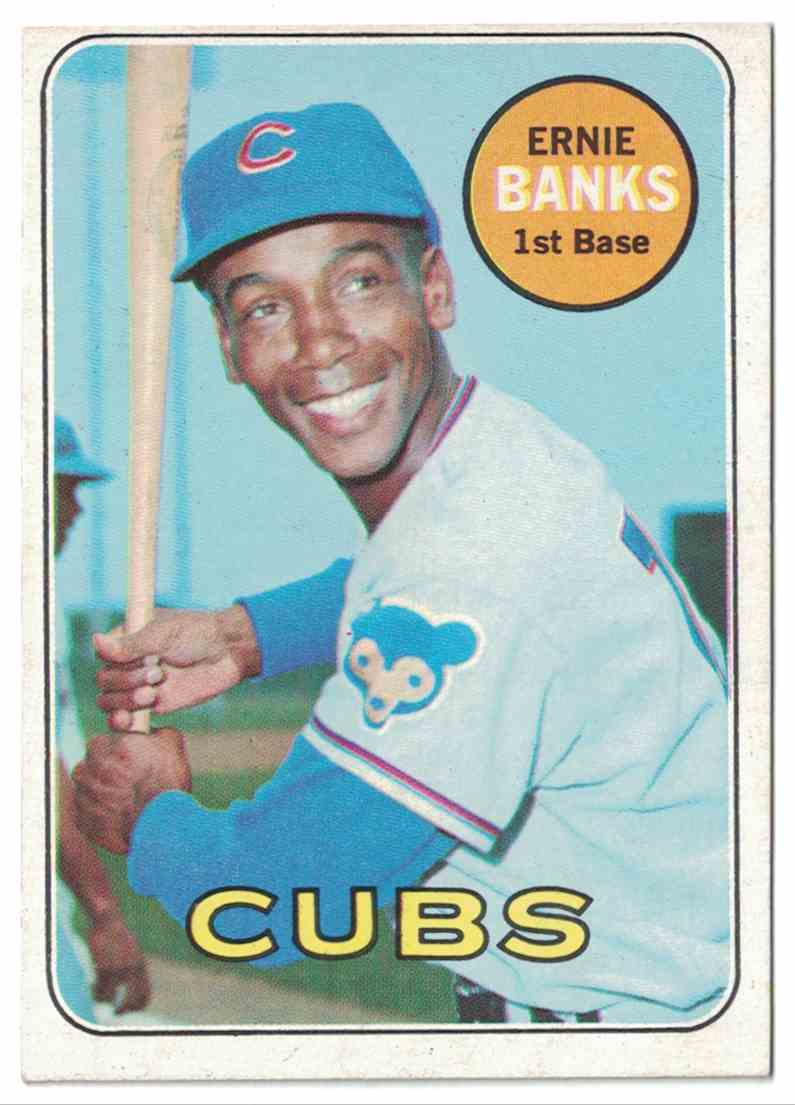 1969 Topps Ernie Banks NM #20 card front image