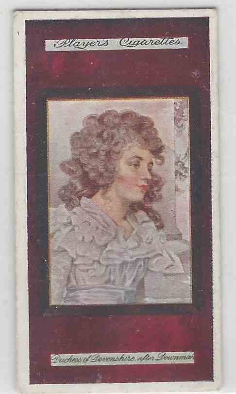 1923 Player's Miniatures The Duchess Of Devonshire #14 card front image
