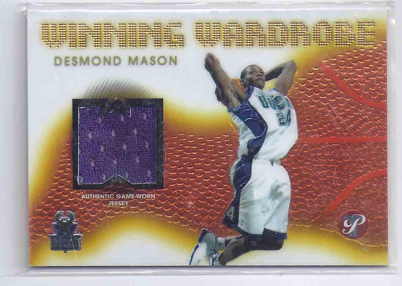 2004-05 Topps Pristine Winning Wardrobe Desmond Mason #DM card front image