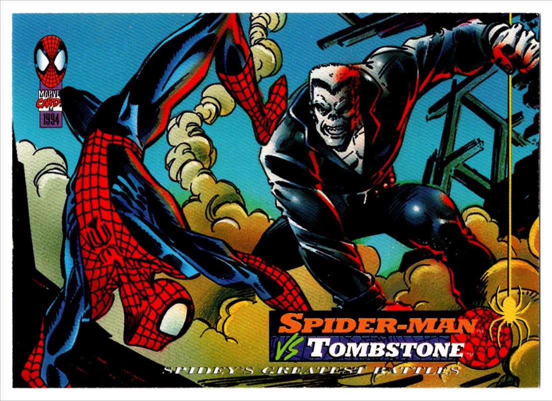 1994 Amazing Spider-Man Spider-Man Vs Tombstone #105 card front image