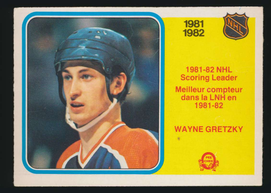 1982-83 OPC Wayne Gretzky Scoring Leader #243 card front image