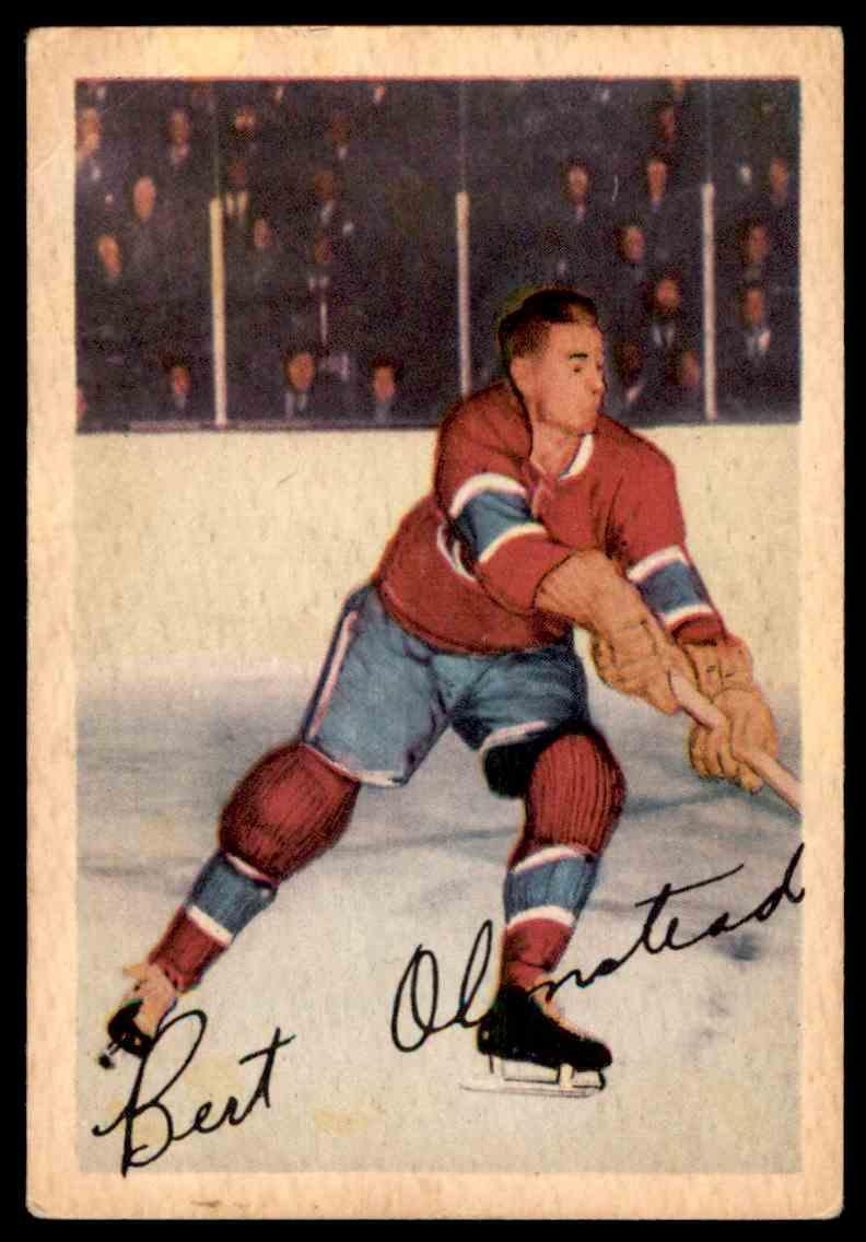 1953-54 Parkhurst Bert Olmstead #19 card front image