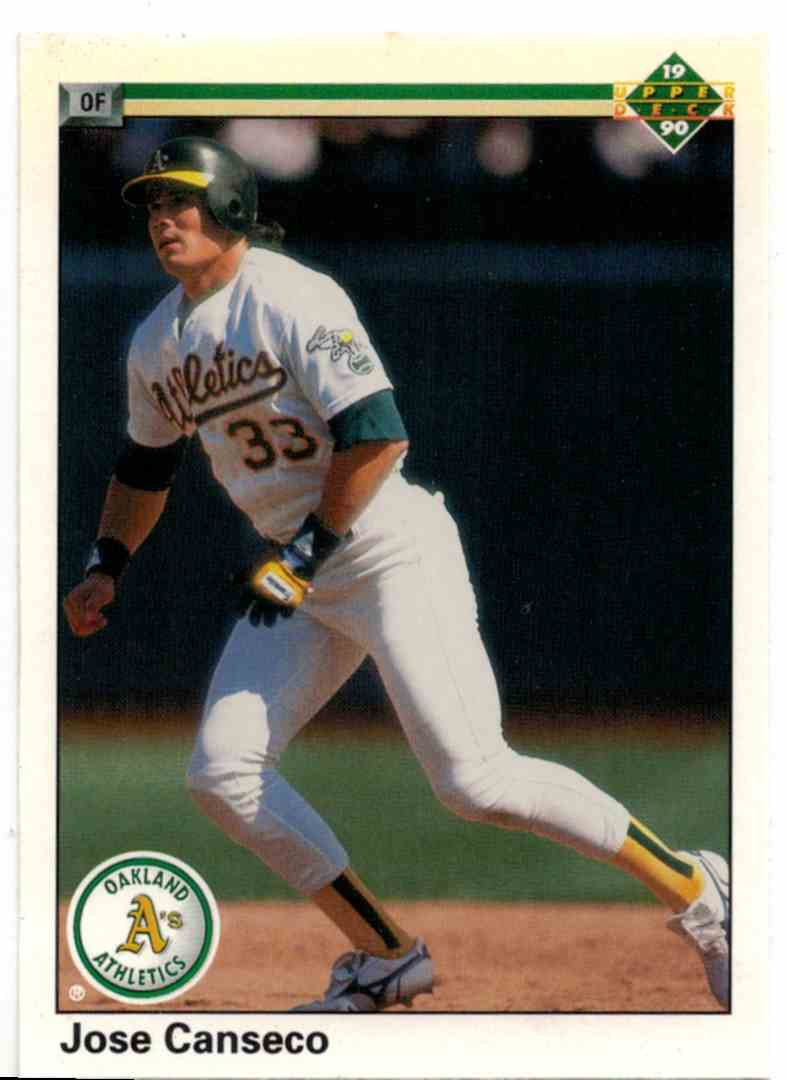 1990 Upper Deck Jose Canseco #66 card front image