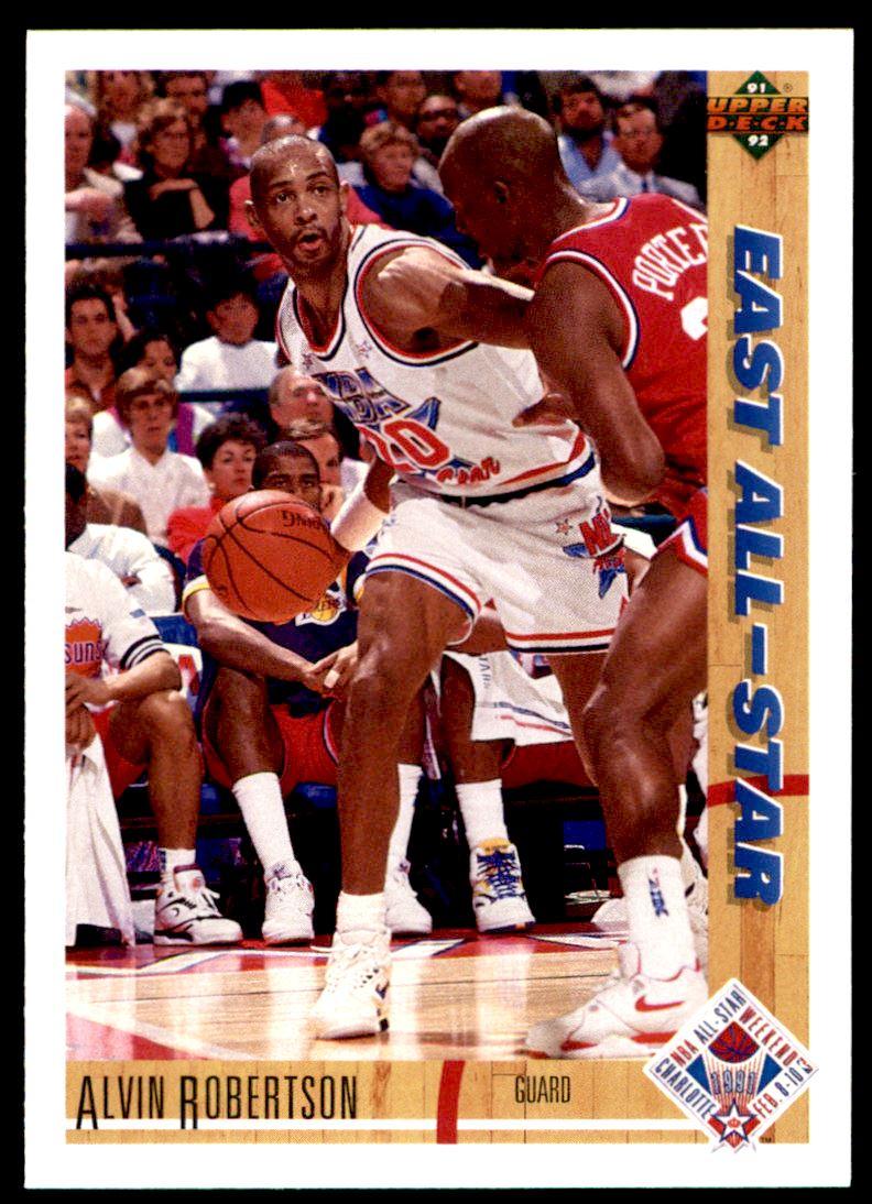 1991 92 Upper Deck Alvin Robertson 64 on Kronozio