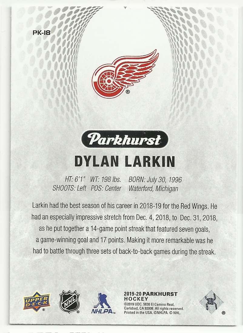 2019-20 Parkhurst Parkies Dylan Larkin #18 card back image