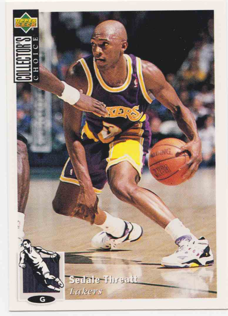 1994-95 Upper Deck Collector's Choice Base Sedale Threatt #68 card front image