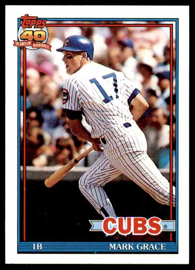 1991 Topps 40 Years Of Baseball Mark Grace 520 On Kronozio