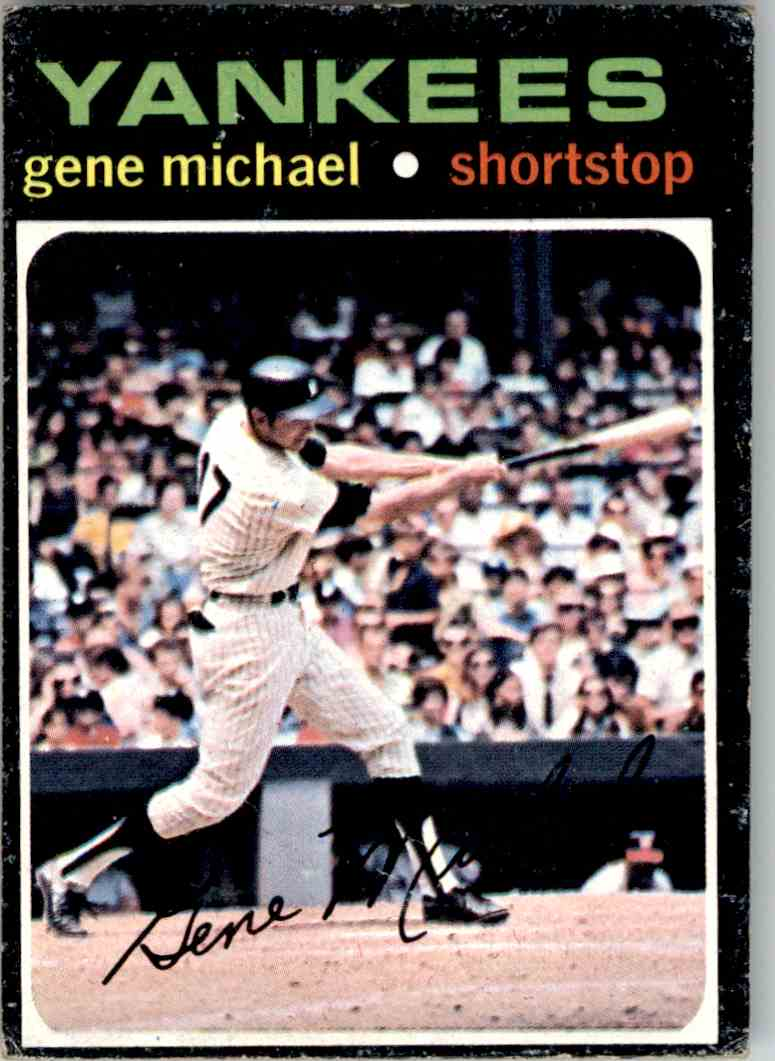 1970 Topps Gene Michael #483 card front image