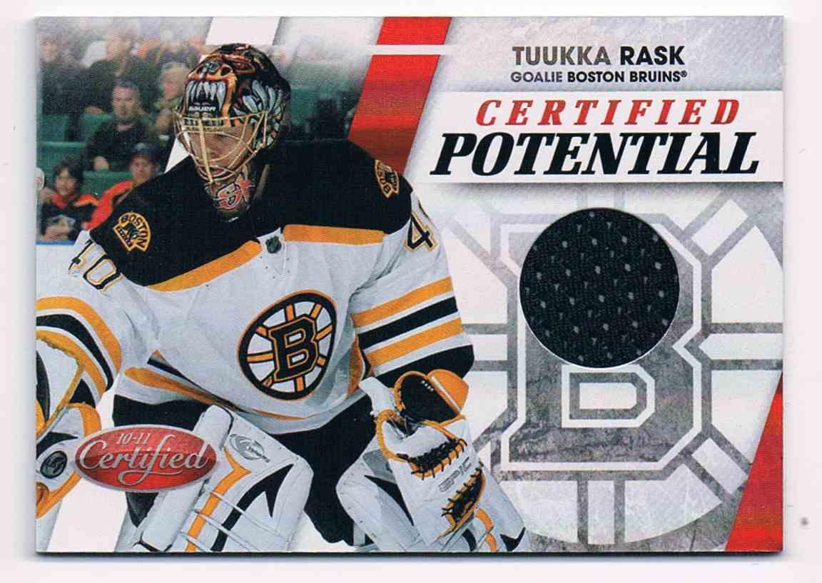 2010-11 Panini Certified Potential Tuukka Rask #15 card front image
