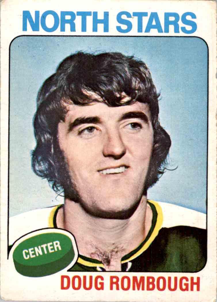 1975-76 O-Pee-Chee Doug Rombough #161 card front image