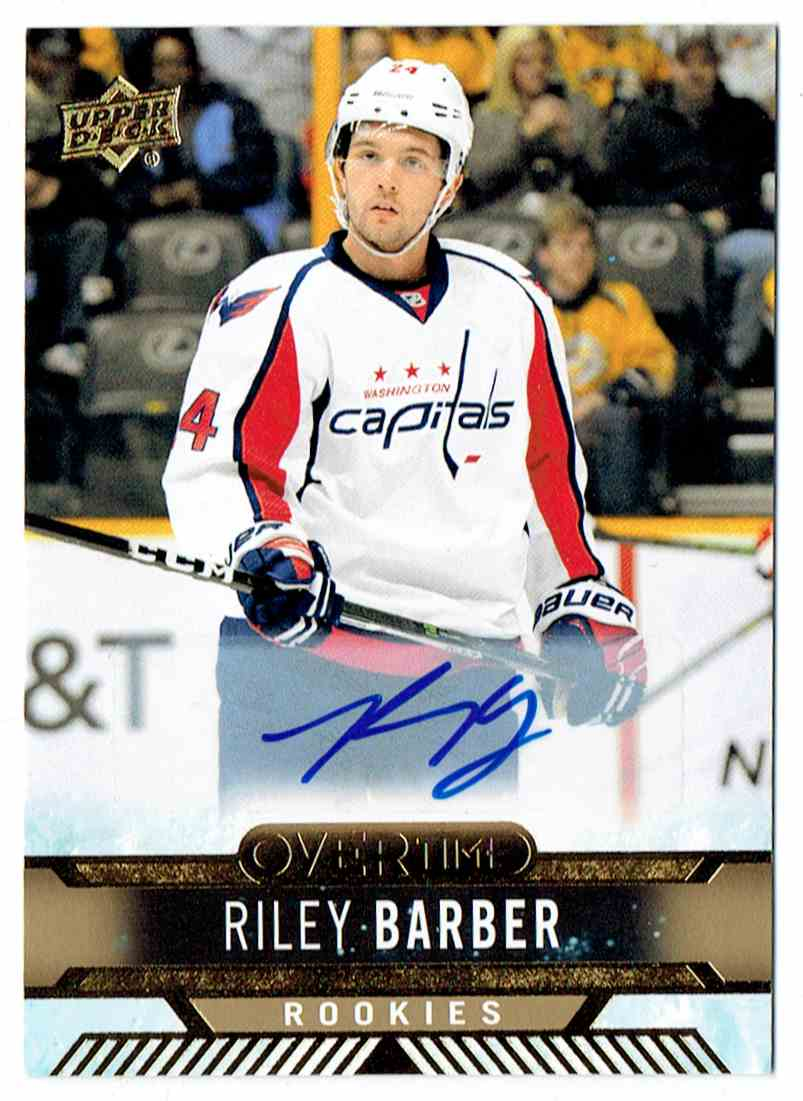 2017-18 Upper Deck Overtime Rookies Autograph Riley Barber #53 card front image