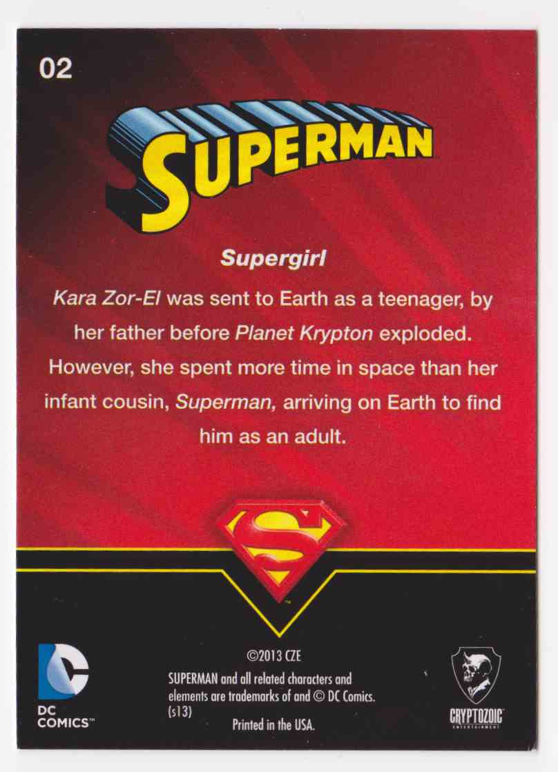 2013 Superman Cryptozoic Superman #2 card back image