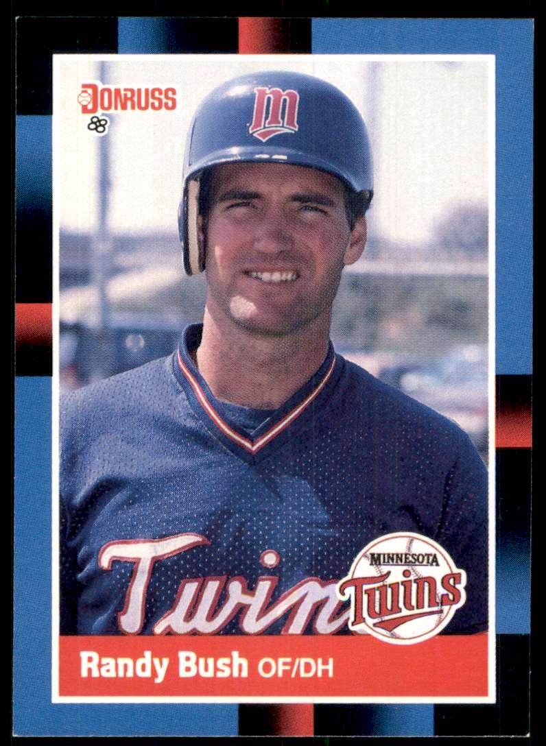 1988 Donruss Randy Bush #272 card front image