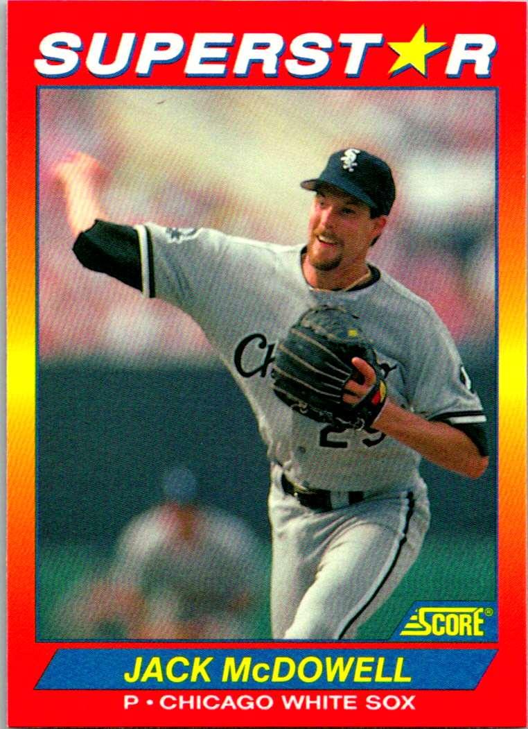 1992 Score 100 Superstars Jack McDowell #22 card front image