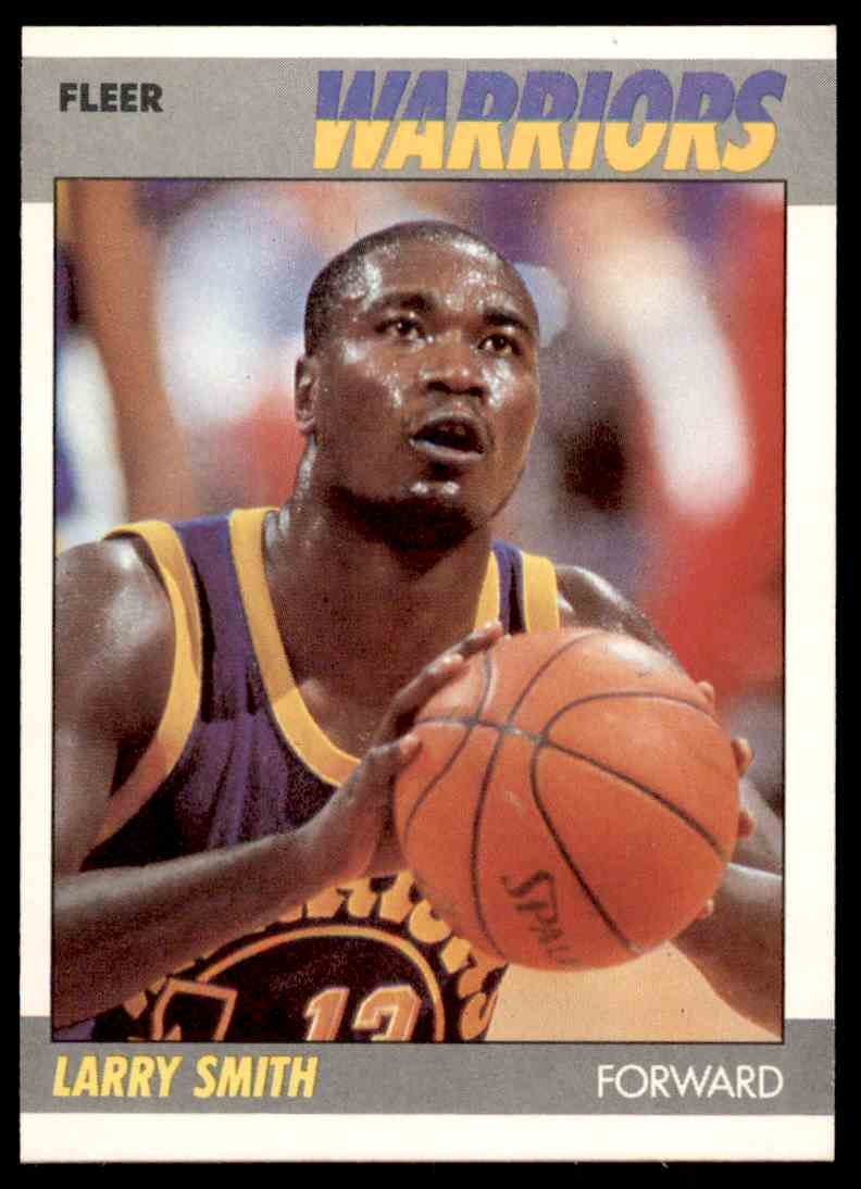 1987-88 Fleer Basketball Larry Smith #101 card front image