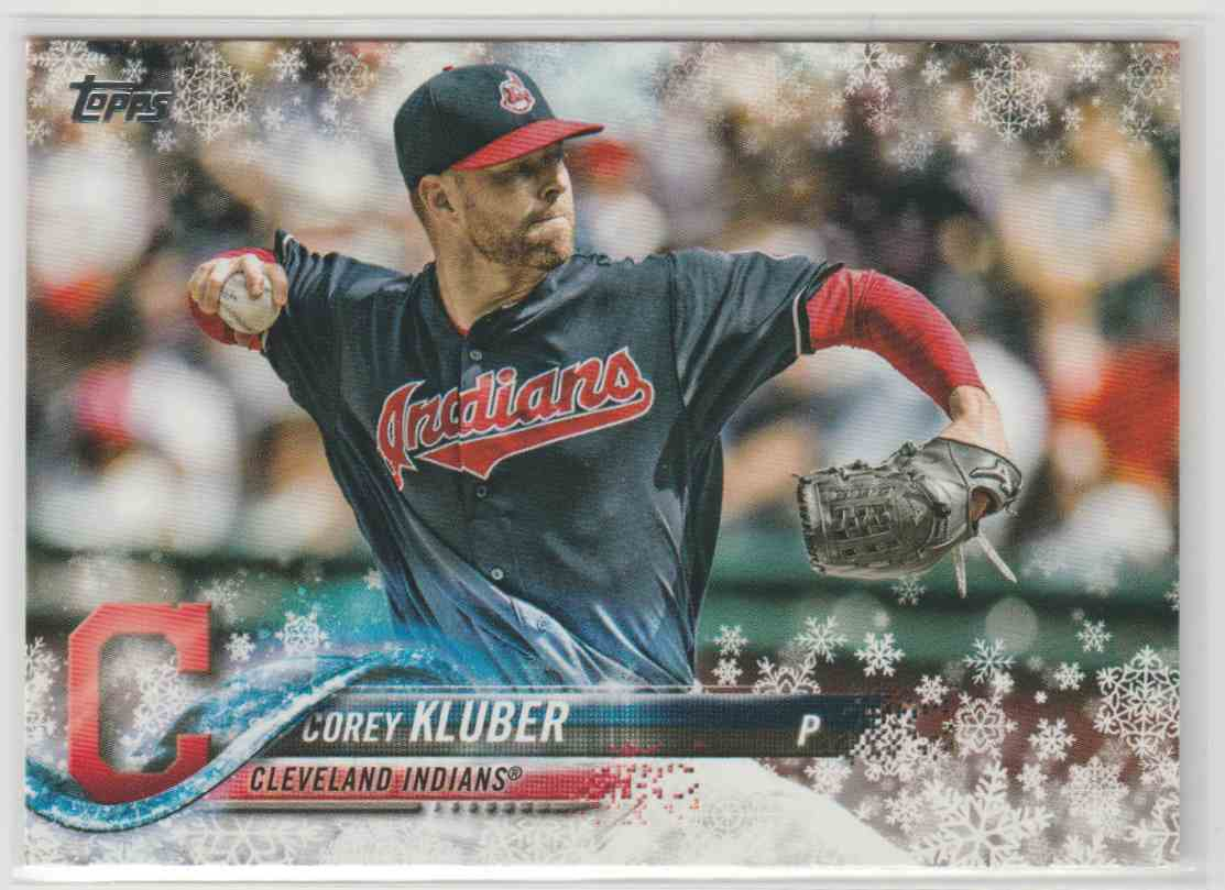 2018 Topps Walmart Holiday Snowflake Cory Kluber #HMW136 card front image
