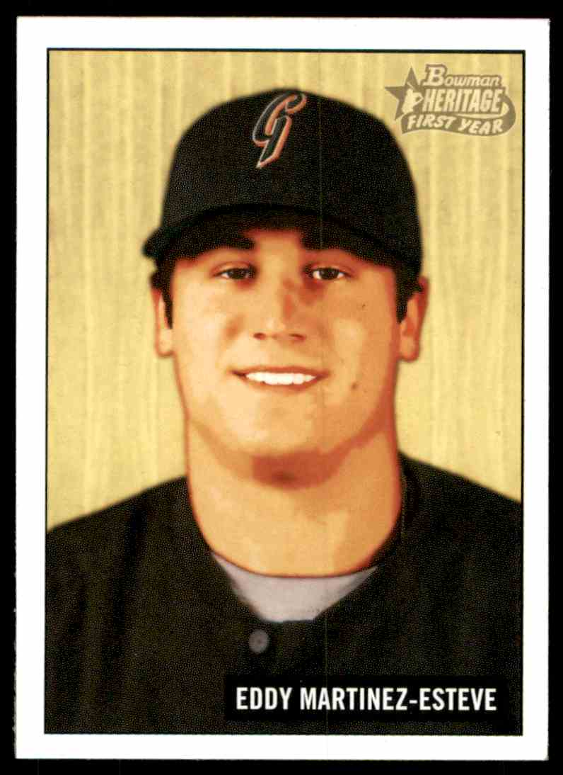 2005 Bowman Heritage Eddy Martinez Fy RC #246 card front image