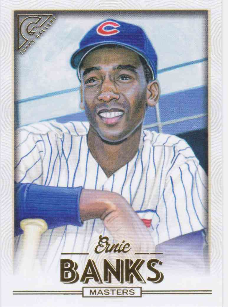 2018 Topps Gallery SP Ernie Banks #167 card front image