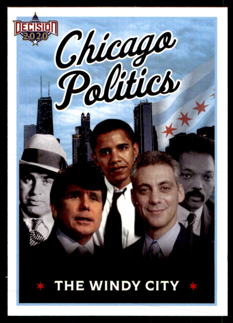2020 Decision Chicago Poltiics Checklist #CHECKLIST card front image