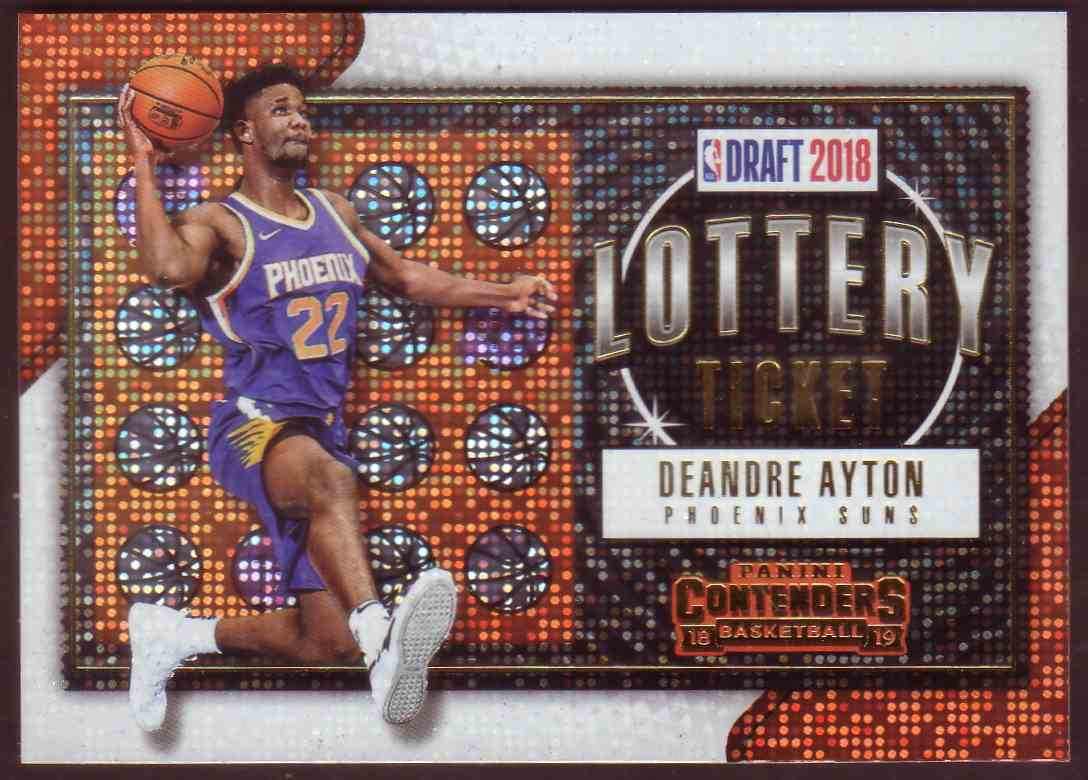 2018-19 Panini Contenders Lottery Tickets DeAndre Ayton #1 card front image