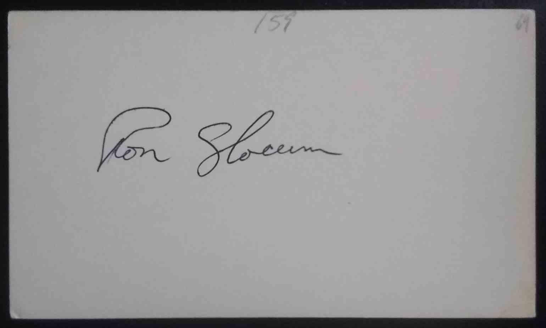 1969 3X5 Ron Slocum card back image