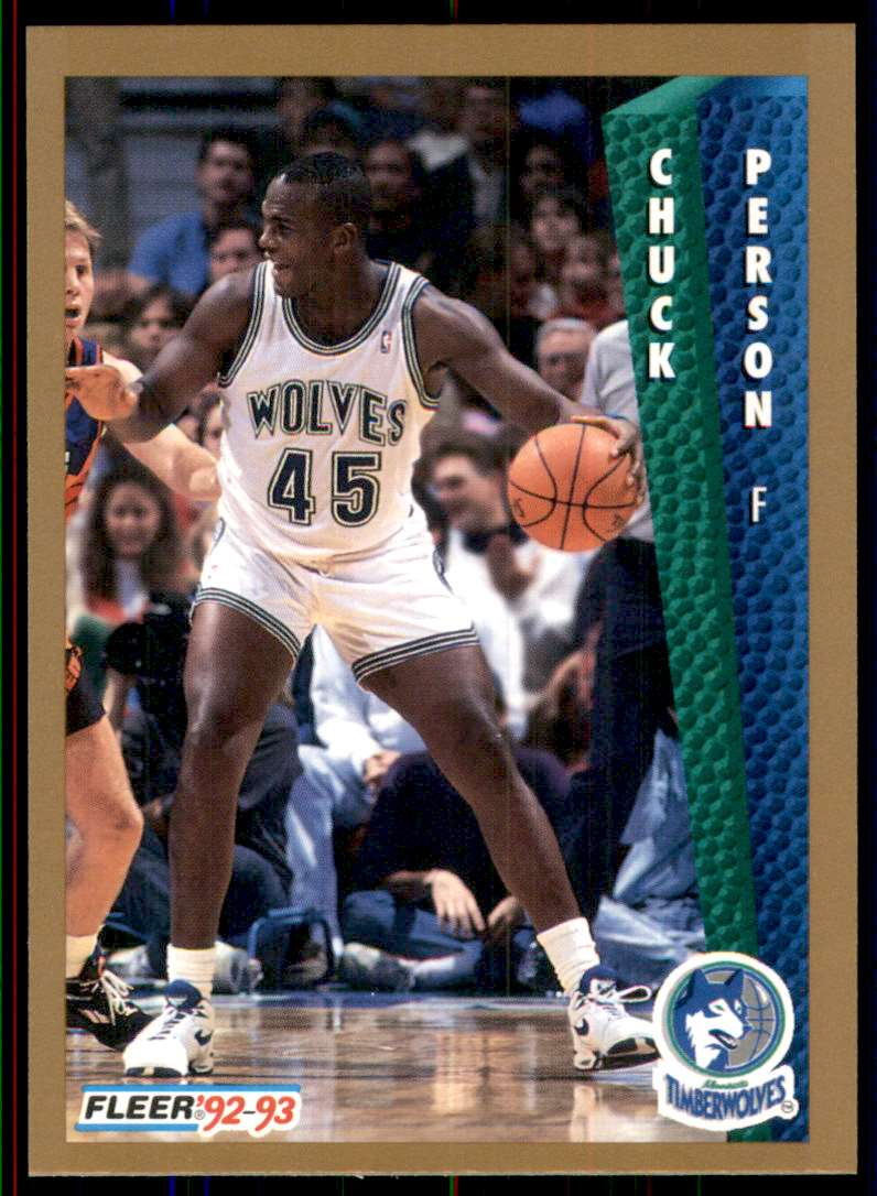 1992-93 Fleer Chuck Person #381 card front image