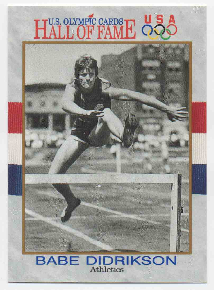 1991 Impel U.S. Olympic Hall Of Fame Babe Didrikson #6 card front image