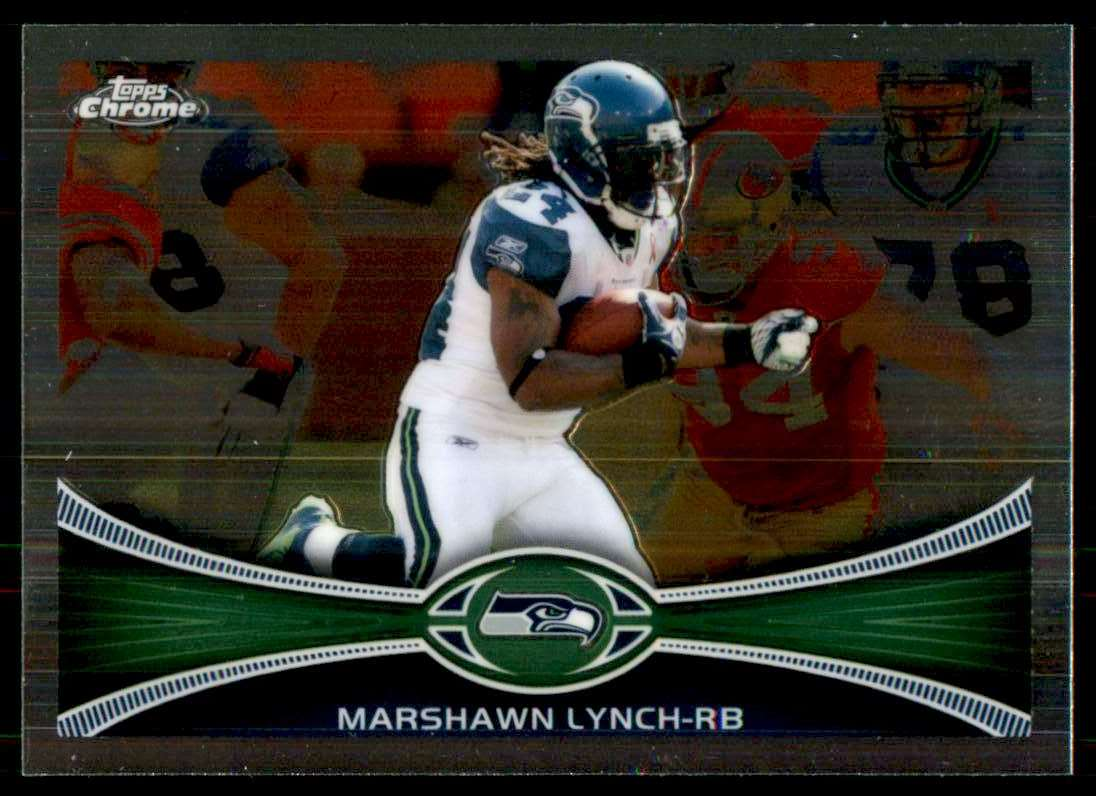 2012 Topps Chrome Marshawn Lynch #132 card front image