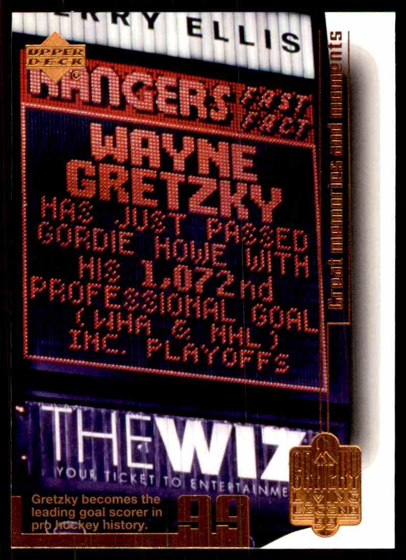 1999-00 Upper Deck Living Legend Wayne Gretzky (Goal 1,072) #95 card front image