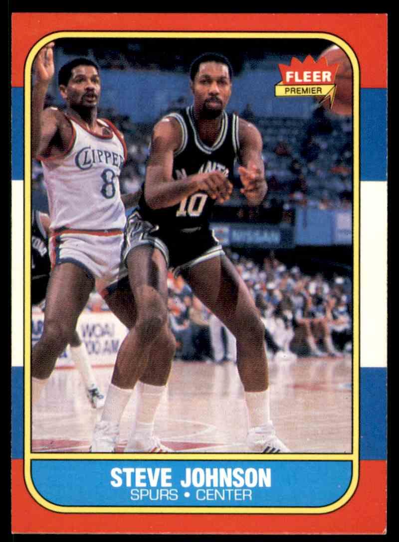 1986-87 Fleer Steve Johnson #55 OF 132 card front image