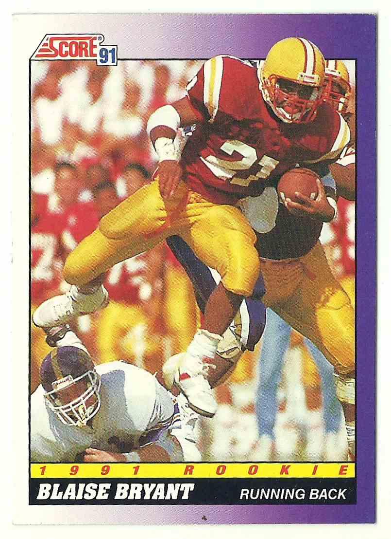 1991 Score Blaise Bryant #603 card front image
