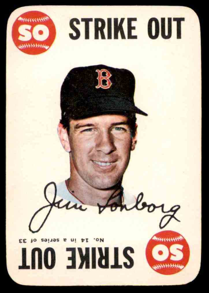 1968 Topps Game Jim Lonborg #14 card front image