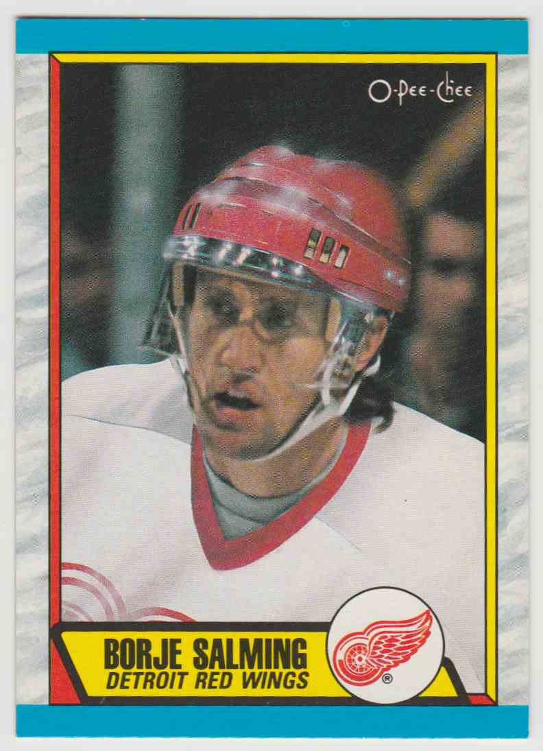 1989-90 O O-Pee-Chee Borje Salming #278 card front image
