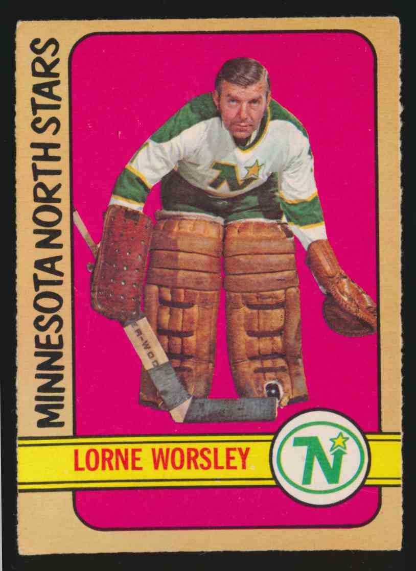 1972-73 0-Pee-Chee Lorne Worsley #28 card front image