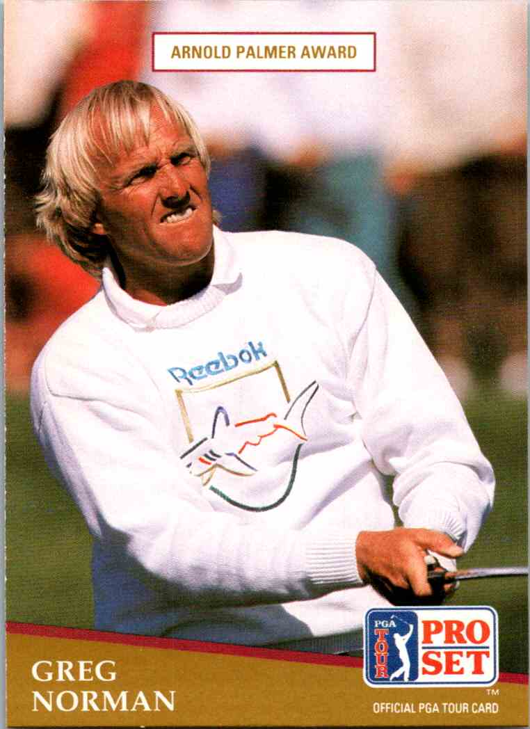 1991 Pro Set Greg Norman #282 card front image