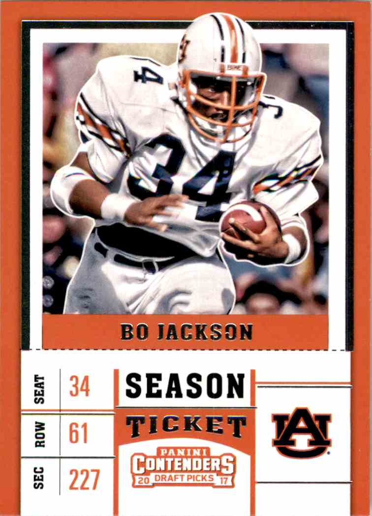 2017 Panini Contenders Draft Picks Bo Jackson #13 card front image