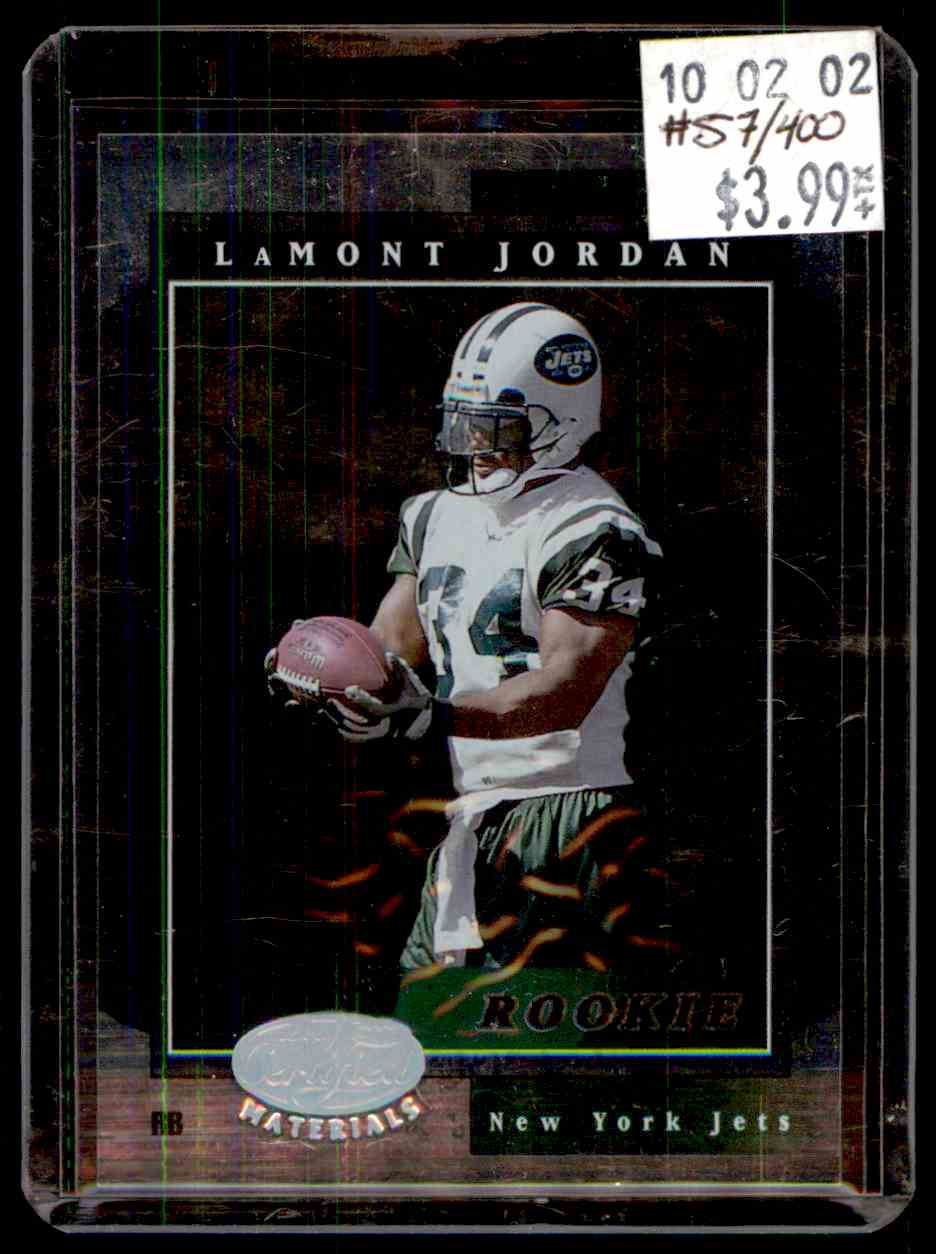 2001 Leaf Certified Materials Lamont Jordan #106 card front image