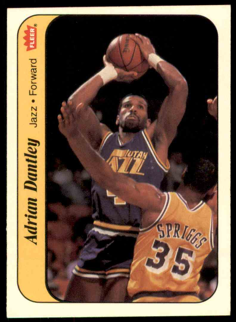 1986-87 Fleer Sticker Adrian Dantley-1 #3 OF 11 card front image